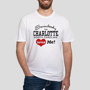 Charlotte North Carolina Fitted T-Shirt