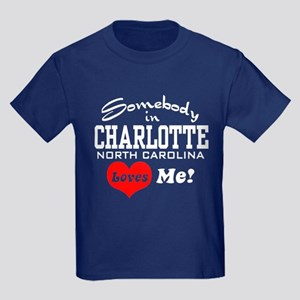 Charlotte North Carolina Kids Dark T-Shirt