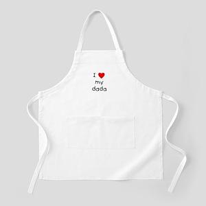 I love my dada BBQ Apron