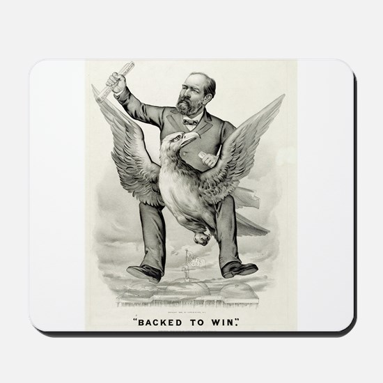 Backed to win - 1880 Mousepad