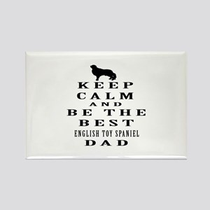 Keep Calm English Toy Spaniel Designs Rectangle Ma