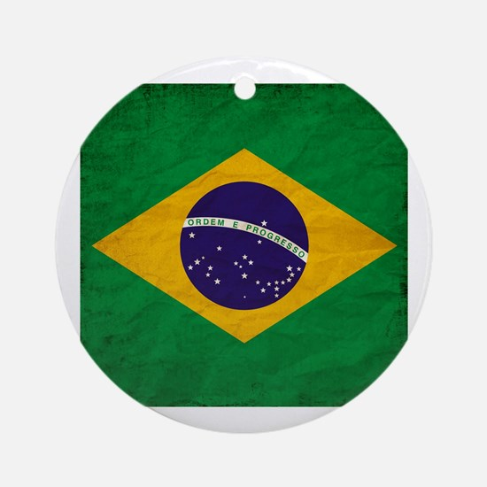 Cute Brasil map Round Ornament