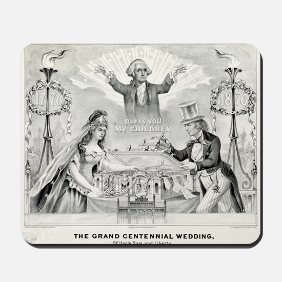 Grand centennial wedding of Uncle Sam and Liberty