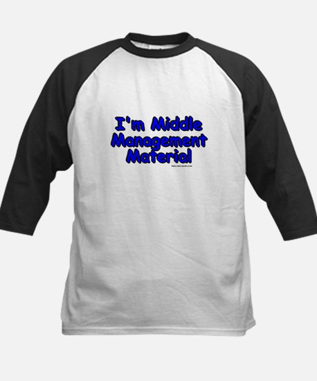 Middle Management Material Kids Baseball Jersey