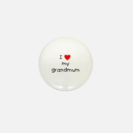 I love my grandmum Mini Button