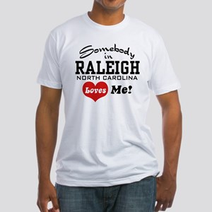 Raleigh North Carolina Fitted T-Shirt