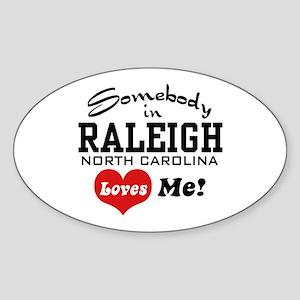 Raleigh North Carolina Sticker (Oval)