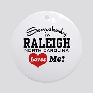 Raleigh North Carolina Ornament (Round)