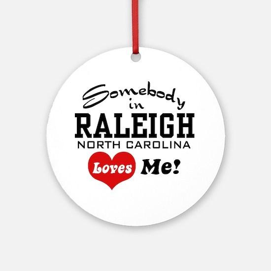Raleigh North Carolina Ornament (Round)