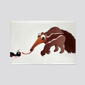 Anteater Meets His Lunch Rectangle Magnet