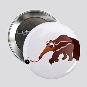 """Anteater Meets His Lunch 2.25"""" Button"""