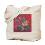 Mouse with Flowers Tote Bag