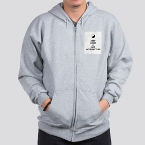 Keep Calm Get Acupuncture Zip Hoodie