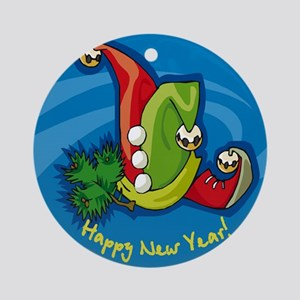HAPPY NEW YEARS EVE CHRISTMAS ORNAMENT (Round)