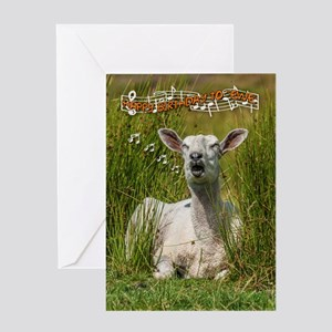 Singing Sheep Birthday Greeting Card