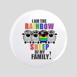 "Rainbow Family Sheep 3.5"" Button"