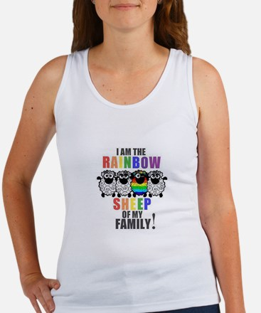 Rainbow Family Sheep Tank Top