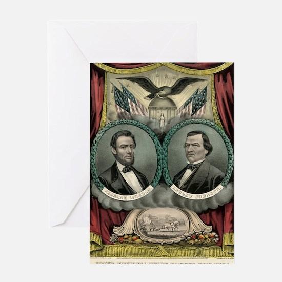 Grand national union banner for 1864. Liberty, uni