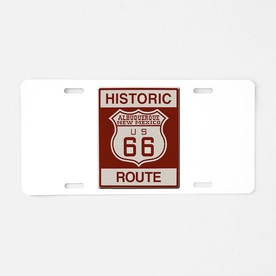 Albuquerque Route 66 Aluminum License Plate