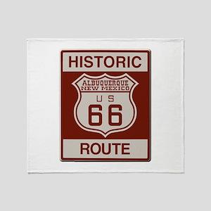 Albuquerque Route 66 Throw Blanket