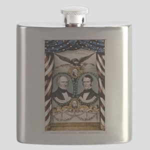 Grand, national, Whig banner - 1852 Flask