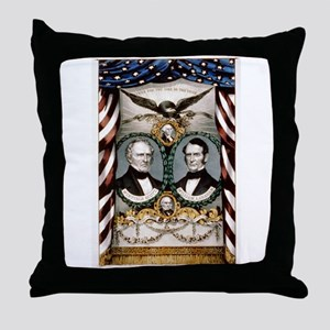 Grand, national, Whig banner - 1852 Throw Pillow