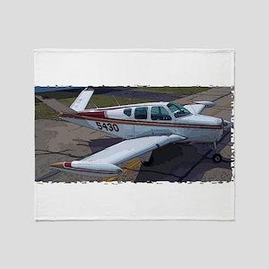 Beechcraft Bonanza Throw Blanket