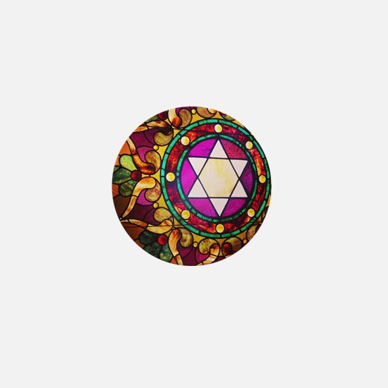 Stained Glass Mini Button