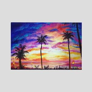 Hawaiian Dreams Rectangle Magnet