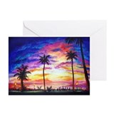 Hawaiian beach Greeting Cards (10 Pack)