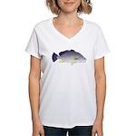 Freshwater Drum fish (aka Sheephead) Women's V-Nec