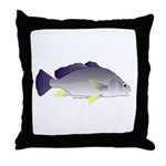 Freshwater Drum fish (aka Sheephead) Throw Pillow
