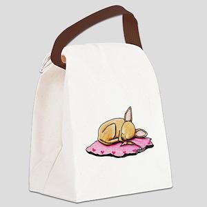 Sleeping Belleza Canvas Lunch Bag