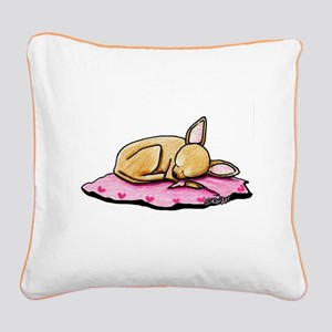 Sleeping Belleza Square Canvas Pillow