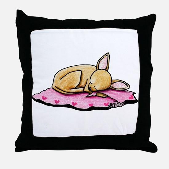 Sleeping Belleza Throw Pillow