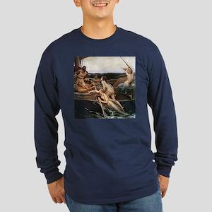 Ulysses/Sirens Long Sleeve Navy T-Shirt