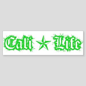 cali life 1a green Bumper Sticker
