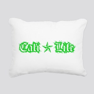 cali life 1a green Rectangular Canvas Pillow