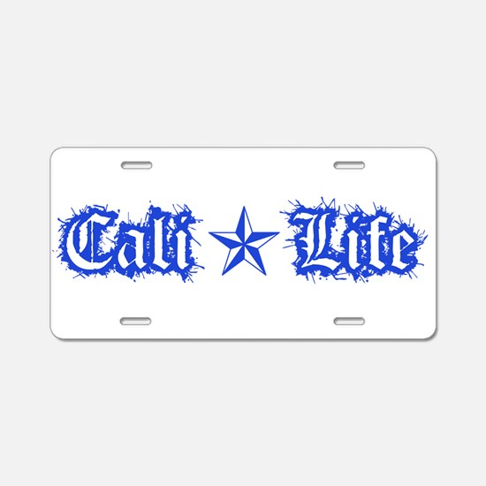 cali life 1a blue Aluminum License Plate