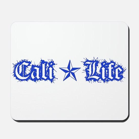cali life 1a blue Mousepad