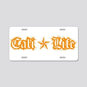 cali life 1a orange Aluminum License Plate