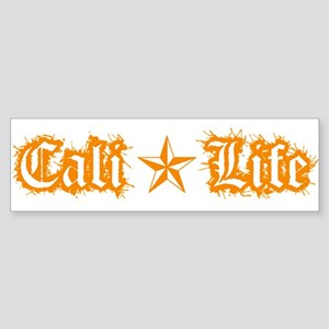 cali life 1a orange Bumper Sticker