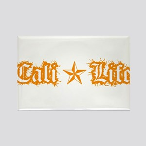 cali life 1a orange Rectangle Magnet