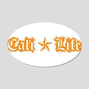 cali life 1a orange Wall Decal