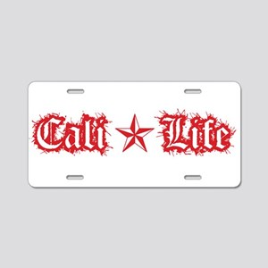 cali life 1a red Aluminum License Plate
