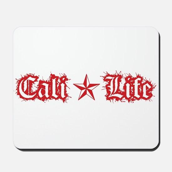 cali life 1a red Mousepad