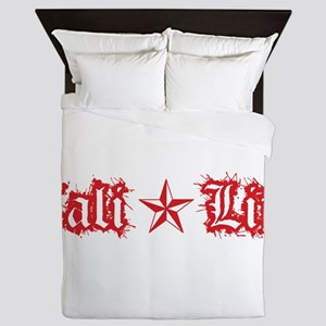 cali life 1a red Queen Duvet