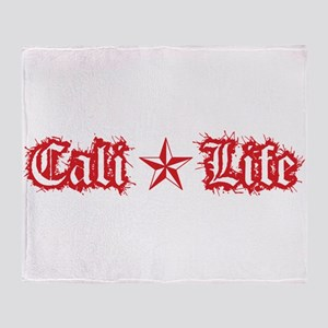 cali life 1a red Throw Blanket