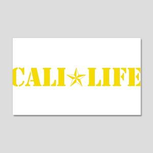 cali life 1b yellow Wall Decal