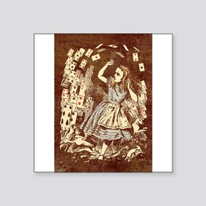 Vintage Alice With Cards Distressed Sticker